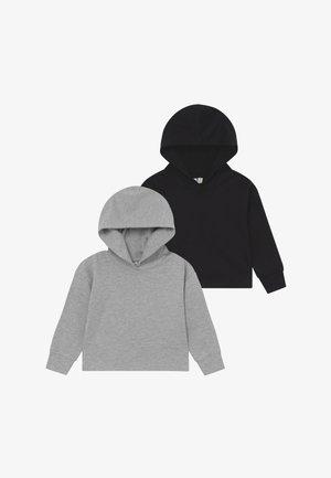 2 PACK CROPPED HOODIE - Jersey con capucha - black/melange