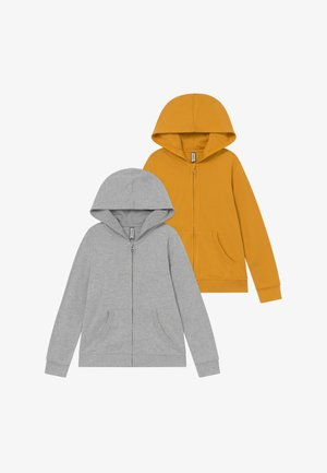 2 PACK - Hoodie met rits - light grey melange/mineral yellow