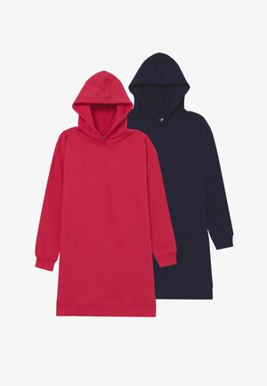 BASIC LONGLINE HOODIE 2 PACK - Bluza z kapturem - Rose Red