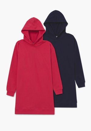 BASIC LONGLINE HOODIE 2 PACK - Mikina s kapucí - Rose Red