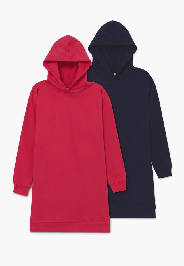 BASIC LONGLINE HOODIE 2 PACK - Huppari - Rose Red