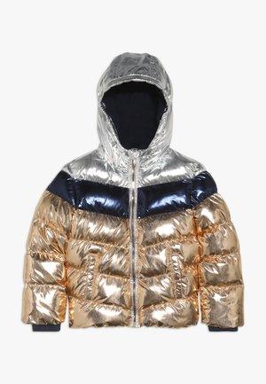 Winter jacket - copper metallic/silver metallic