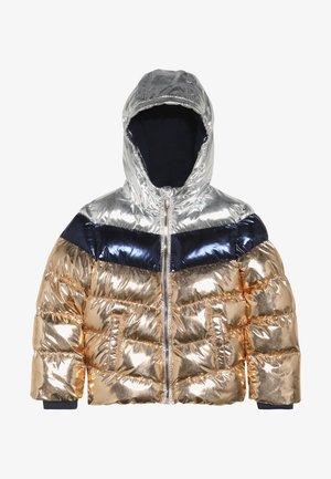 Winterjacke - copper metallic/silver metallic
