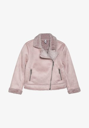 BIKER JACKET - Keinonahkatakki - light pink