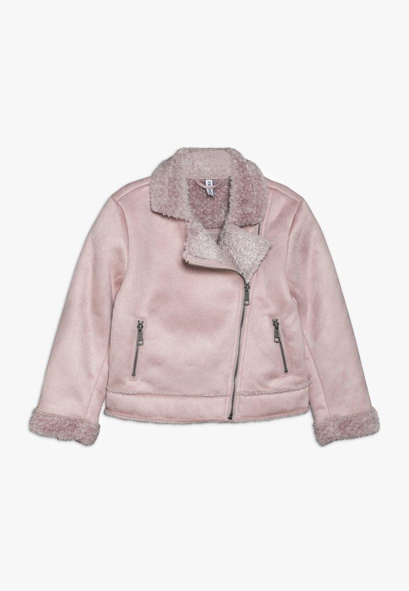 Friboo - BIKER JACKET - Faux leather jacket - light pink