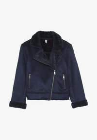 Friboo - BIKER JACKET - Faux leather jacket - peacoat - 3