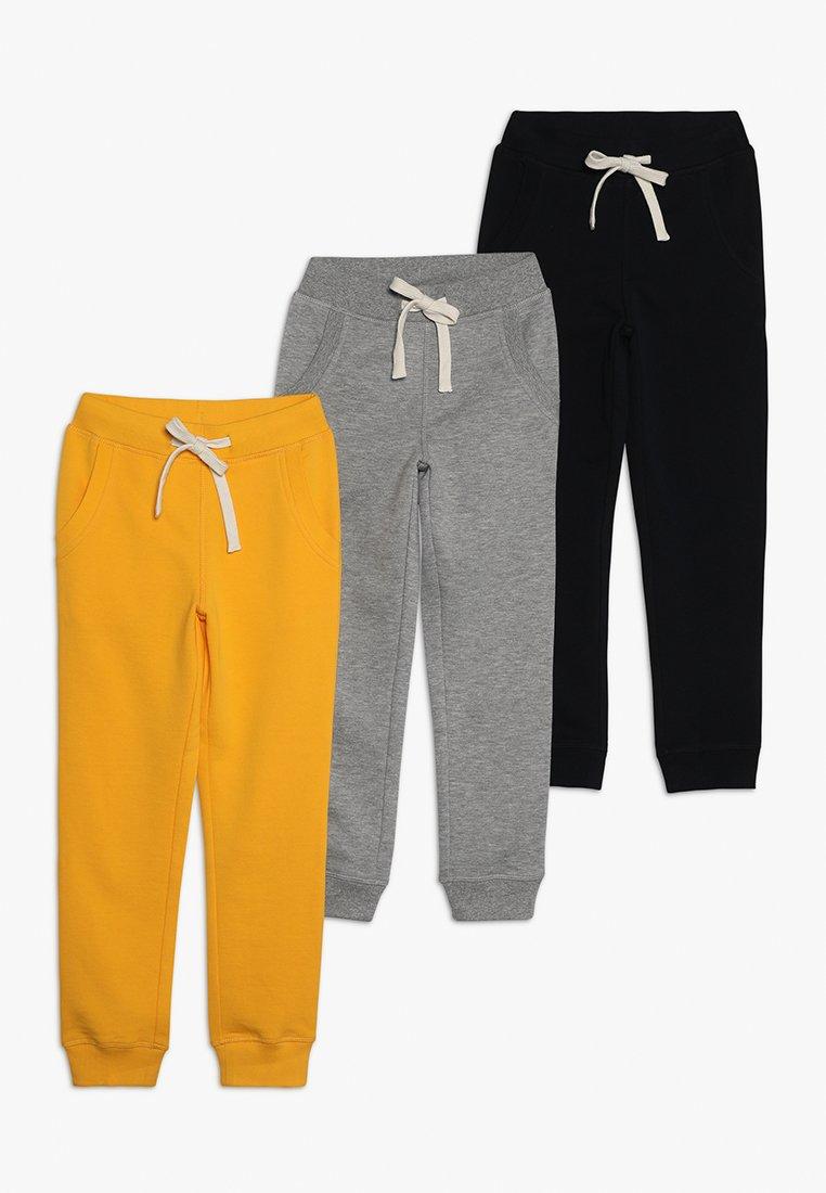 Friboo - 3 PACK - Träningsbyxor - grey/yellow