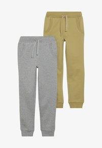 Friboo - BOYS 2 PACK - Pantaloni sportivi - light grey melange/khaki - 3