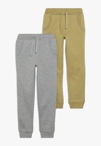 Friboo - BOYS 2 PACK - Pantaloni sportivi - light grey melange/khaki - 0