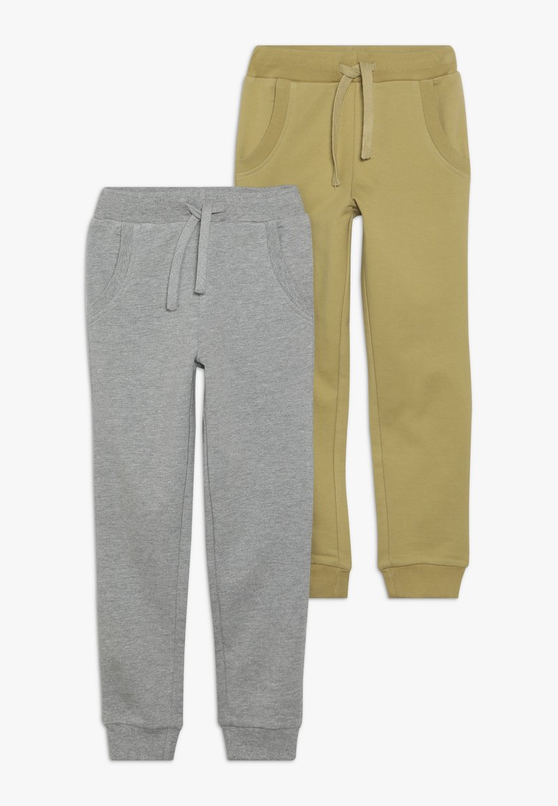 Friboo - BOYS 2 PACK - Pantaloni sportivi - light grey melange/khaki