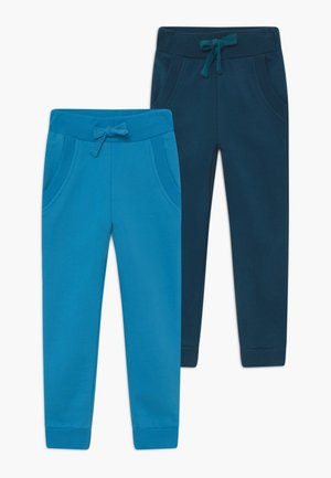 BOYS 2 PACK - Tracksuit bottoms - swedish blue/poisdeon