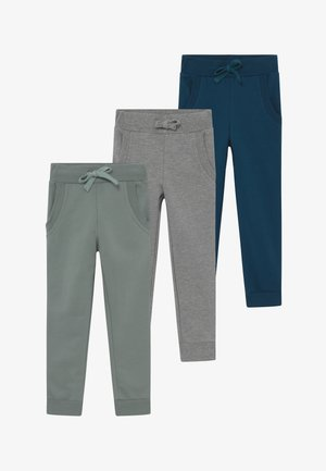 3 PACK  - Pantalon de survêtement - light grey melange/stormy sea