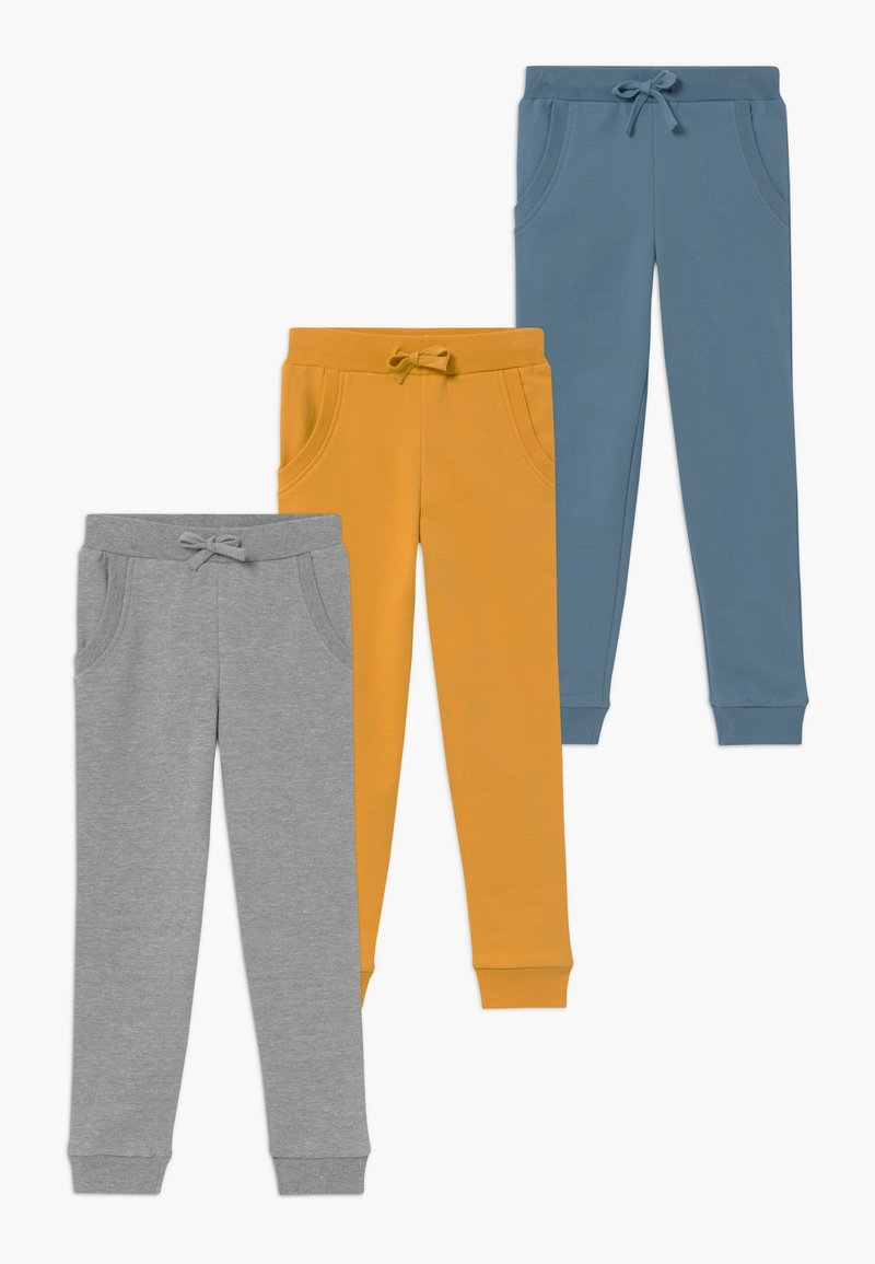 Friboo - 3 PACK  - Pantalones deportivos - light grey melange/blue heaven