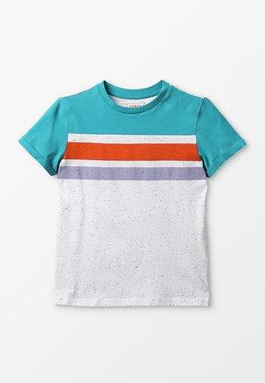 Print T-shirt - blau/weiß