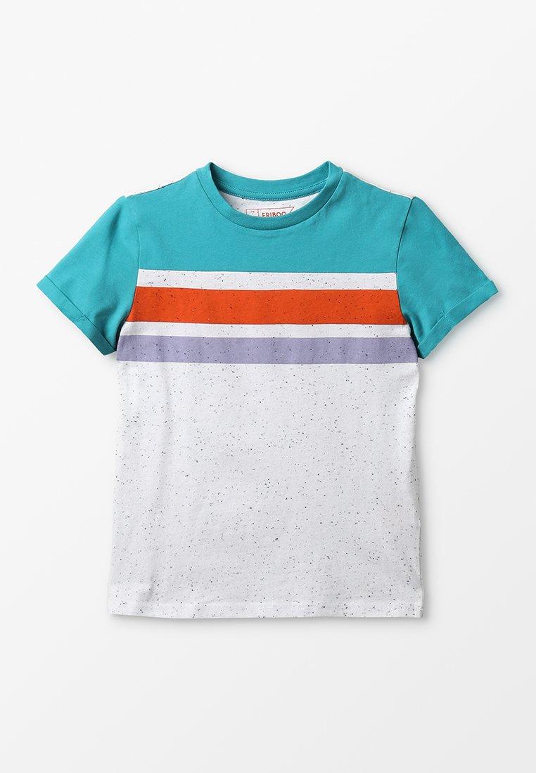 Friboo - T-shirt z nadrukiem - blau/weiß