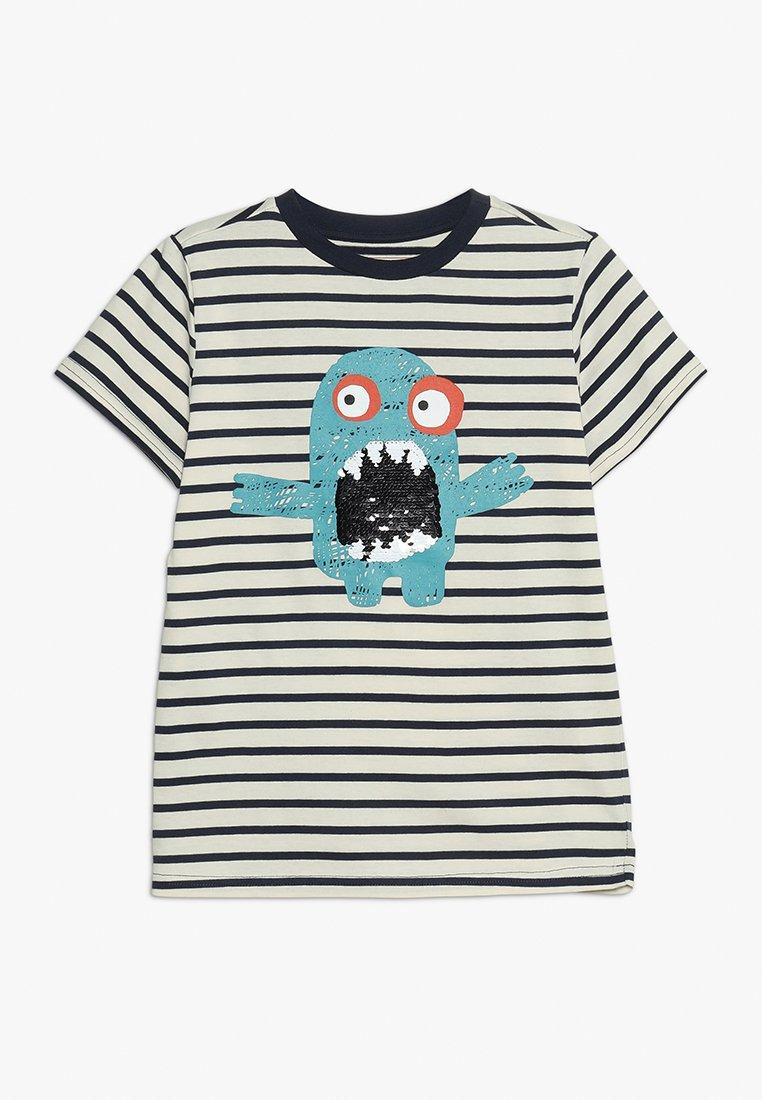 Friboo - T-shirt z nadrukiem - white/navy