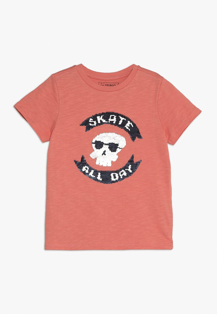 Friboo - SKATE ALL DAY - T-Shirt print - crabapple