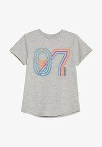 Friboo - Print T-shirt - light grey marl - 2