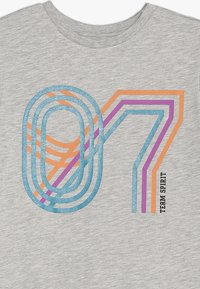 Friboo - Print T-shirt - light grey marl - 3
