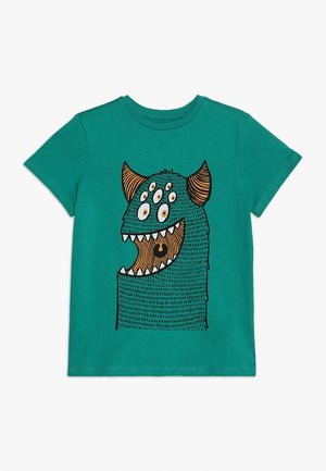 T-shirt con stampa - emerald