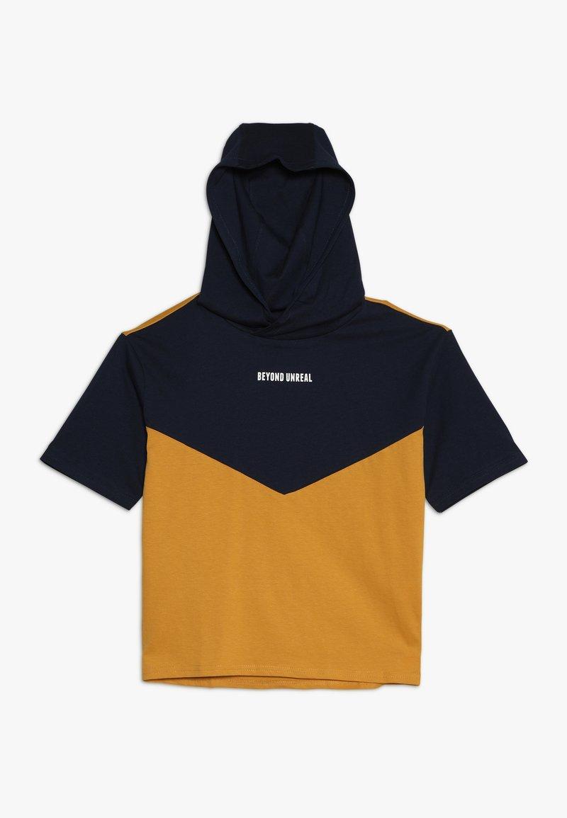 Friboo - T-shirt imprimé - black iris/yellow