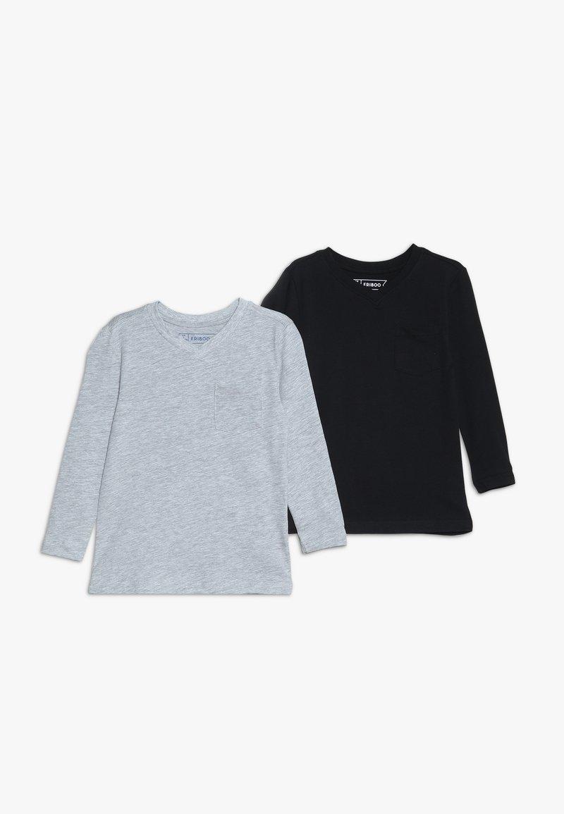 Friboo - 2 PACK - Langærmede T-shirts - light grey/anthracite