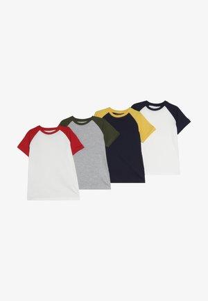 4 PACK - T-shirts med print - melange