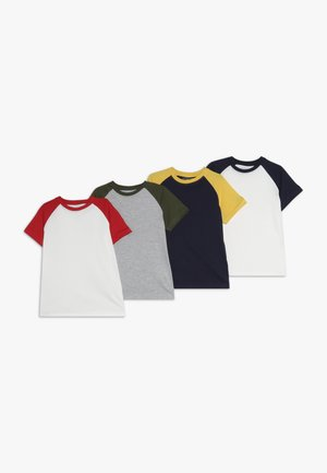 4 PACK - Print T-shirt - melange