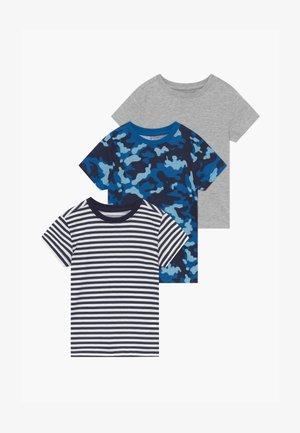 3 PACK - T-shirt z nadrukiem - melange/stripe breton