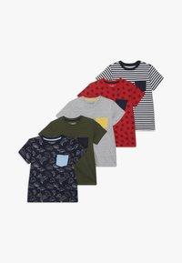 Friboo - 5 PACK  - T-shirt print - khaki - 0