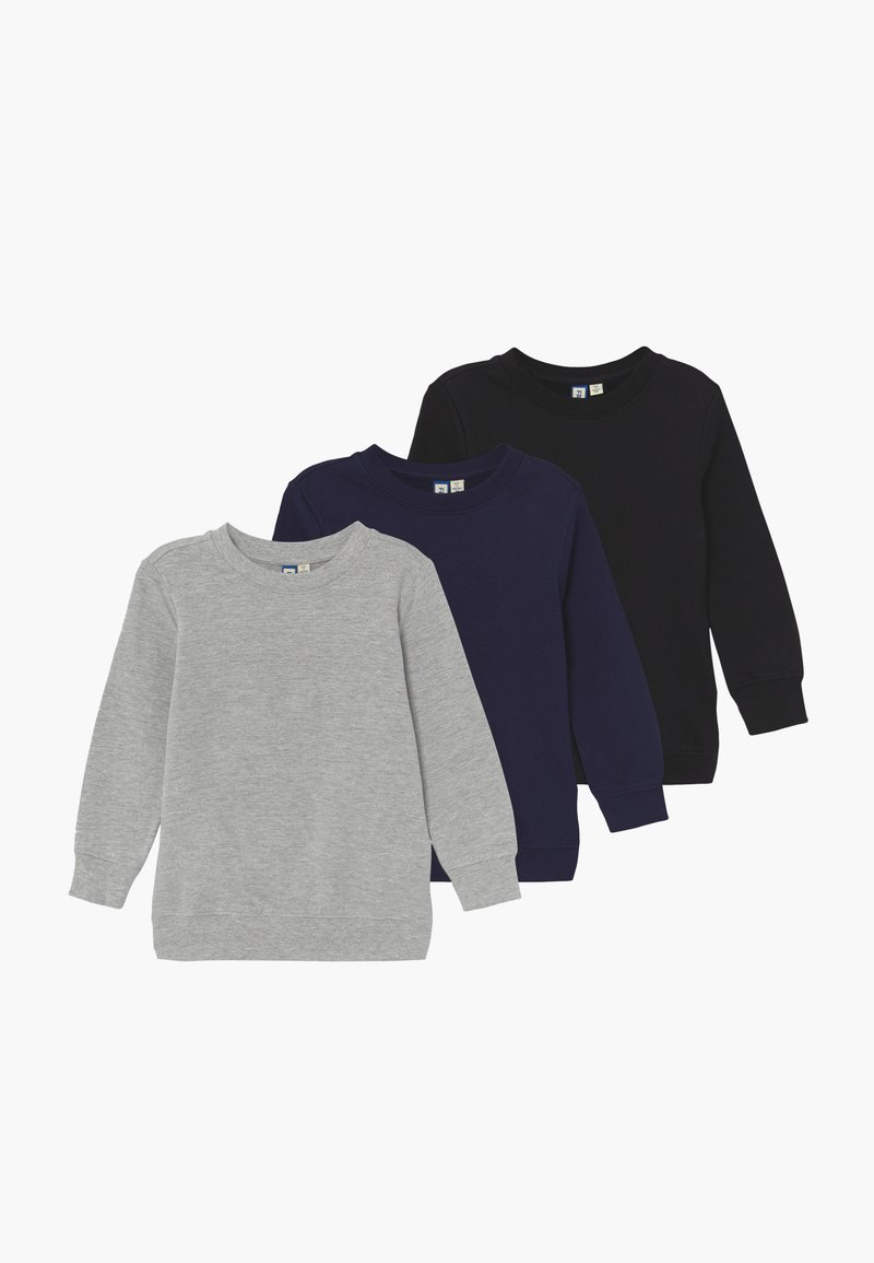 Friboo - 3 PACK  - Sweater - black navy