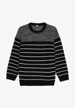 Sweter - dark blue/beige