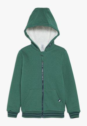 Hoodie met rits - teal green