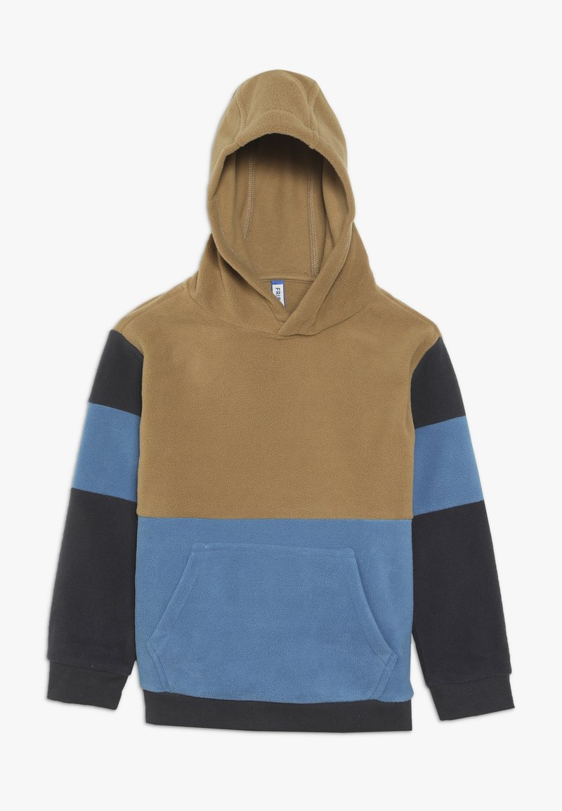 Friboo - SHERPA COLORBLOCK - Hoodie - nine iron/captains blue
