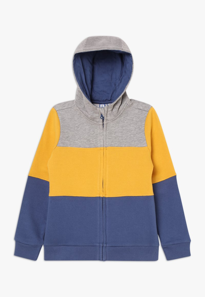 Friboo - Zip-up hoodie - light grey/mineral yellow
