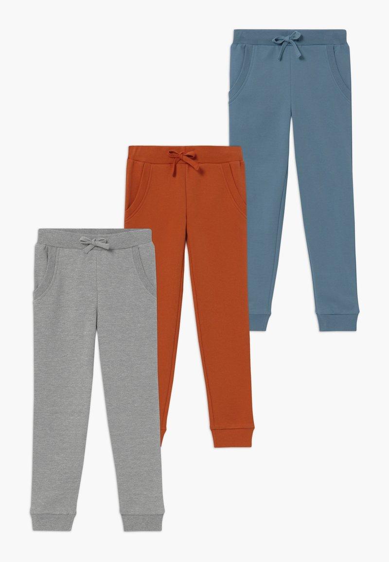Friboo - 3 PACK  - Pantalones deportivos - light grey melange/mecca orange