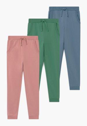 3 PACK  - Pantaloni sportivi - zephyr/bottle green/blue