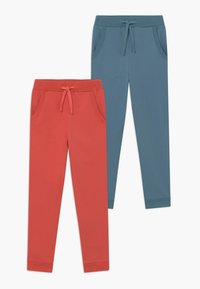 Friboo - 2 PACK - Pantalones deportivos - spiced coral/blue - 0