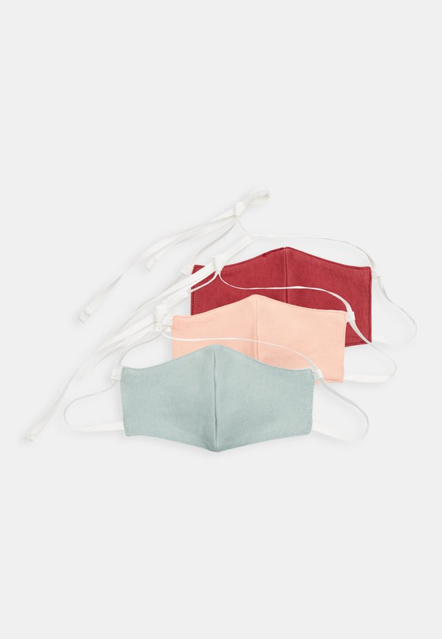3 PACK - Tygmasker - red/mint/pink
