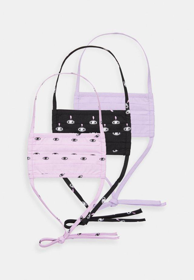 3 PACK - Masque en tissu - lilac/black
