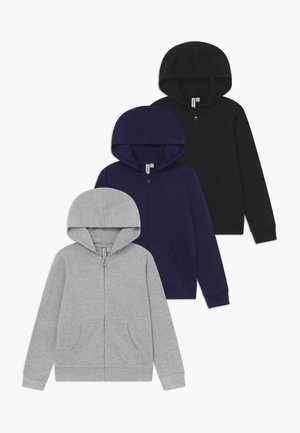 3 PACK - Huvtröja med dragkedja - black /navy