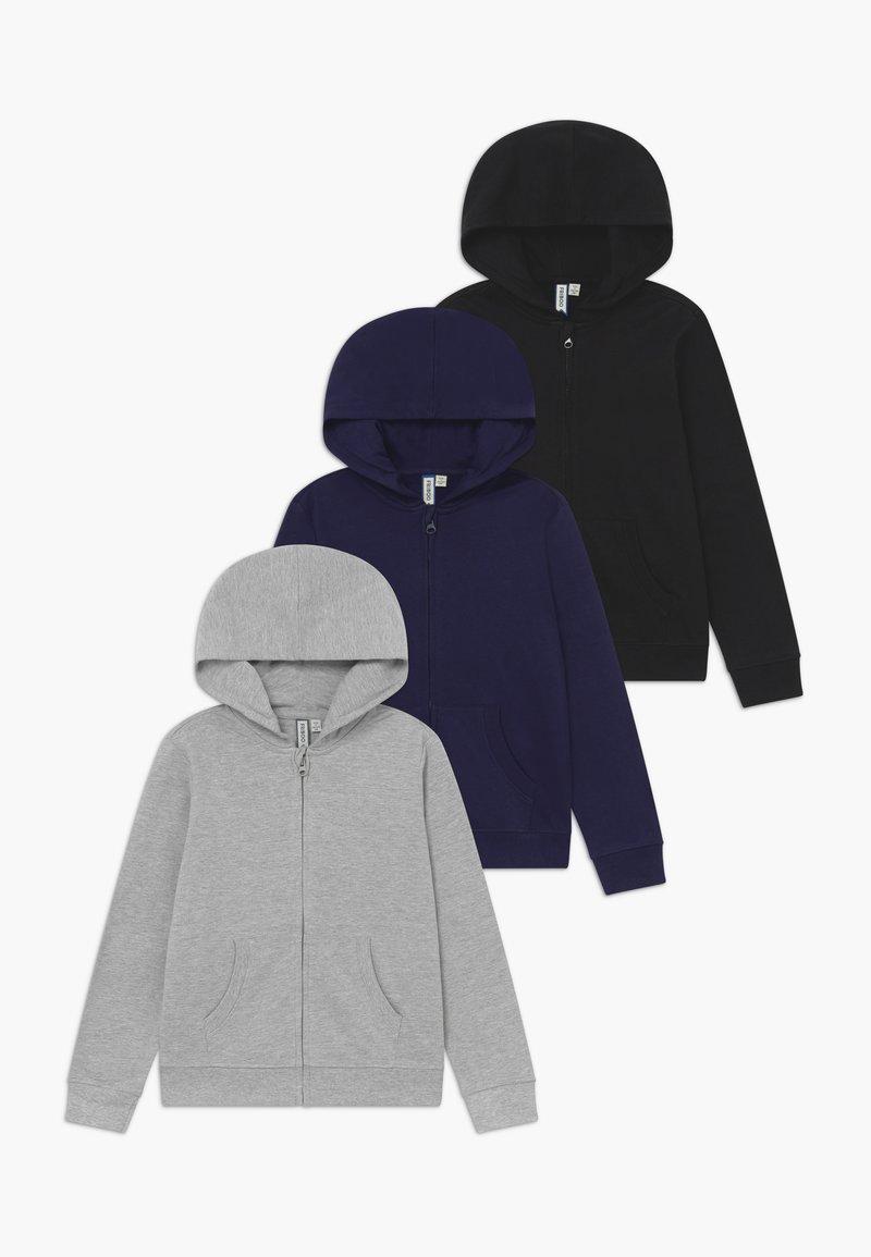 Friboo - 3 PACK - Zip-up hoodie - black /navy
