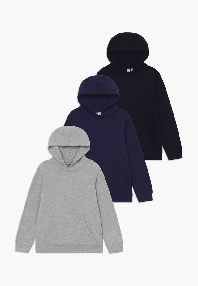 3 PACK - Hættetrøjer - black/navy