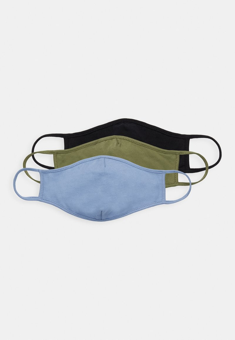 Friboo - 3 PACK - Stoffen mondkapje - black/blue/green