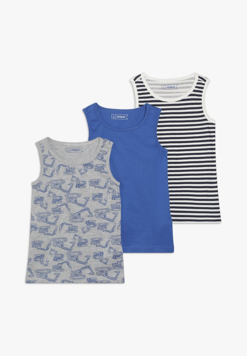 Friboo - 3 PACK - Undershirt - strong blue