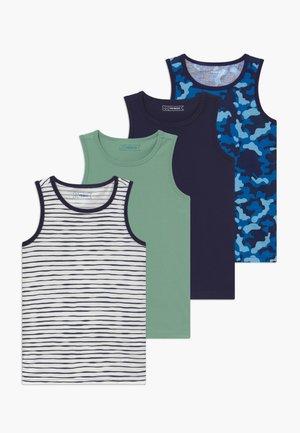 BOYS 4 PACK - Undershirt - dark blue/white/turquoise
