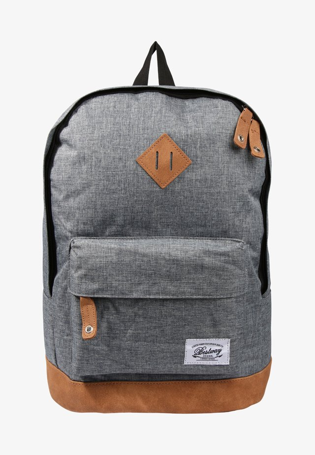 BESTWAY BACKPACK - Rucksack - mottled light grey