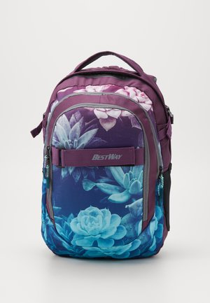 BEST WAY EVOLUTION - School bag - grey green /rose
