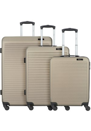 3 PACK - Wheeled suitcase - champagner