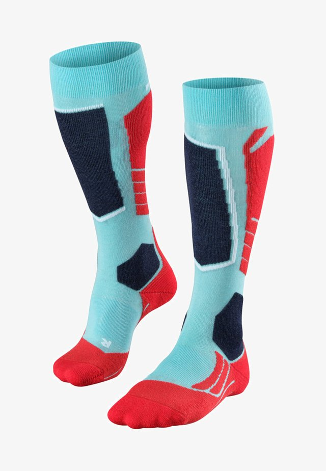 Sports socks - mottled turquoise